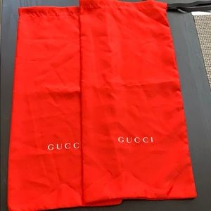 Silky Set of 2 Red Gucci Dust Bags